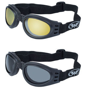 2 Women Motorcycle Goggles Skydive Curtains